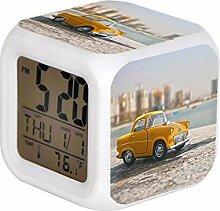 GIAPANO LED-Alarm Colock 7 Farben Desk Gadget