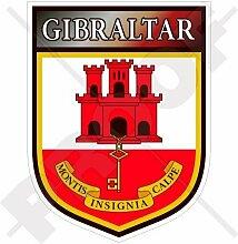 GIBRALTAR Gibraltarisches Schild 100mm Auto &