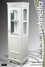 Gicos Vitrine H159weiß Shabby Chic Landhausstil