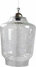 gie el. LGH0490 A++ to E, Hängende Glaslampe, Glas, 60 watts, E27, Transparent, 27 x 27 x 140 cm