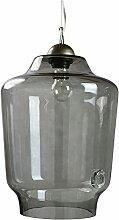 gie el. LGH0492 A++ to E, Hängende Glaslampe, Glas, 60 watts, E27, Grau, 27 x 27 x 140 cm