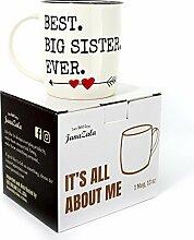 Gifffted Tasse Beste Große Schwester der Welt,