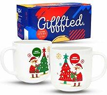 Gifffted Tassen Frohe Weihnachten Weihnachtsmanns,