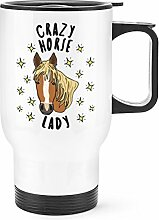 Gift Base Crazy Horse Lady Sterne Reise Becher mit Griff