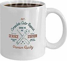Gift Coffee Mug Tea Cup White service station