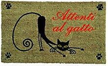 Gift Company Italy Fußmatte PVC Attenti Al Katze