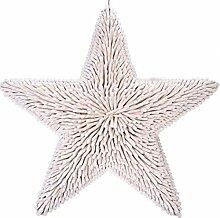 Gift Company - riesiger Stern aus Treibholz - Timber Star - Seestern - Ø: 75 cm - weiß - maritime Dekoration