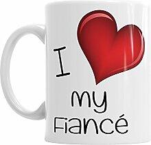 Gift Original I Love My Fiance Kaffee Tee Heiße