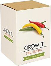 Gift Republic Grow It Geschenkset Chili-Pflanzse