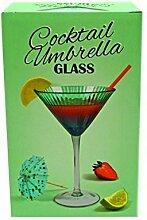 Gift Republic Martiniglas-Regenschirm, Mehrfarbig