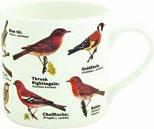 Gift Republic Tasse, aus Knochenporzellan, Design: Vögel