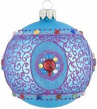 Giftcompany Christbaumkugel Royal, türkis, Glas,
