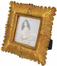 Giftgarden Bilderrahmen Gold Vintage quadratisch