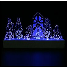 Giftgarden LED Deko Beleuchtung Figur Tischdeko Party Garten Zimmer Weihnachtsdeko die Heiligen Drei Könige besuchen das Christkind schöne Dekoration Hochzeit Familie Geschenk Freund
