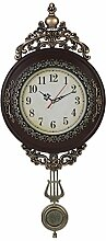 Giftgarden Wanduhr Vintage Schwarz Küche Retro Wohnzimmer mit Pendel Uhr Wand shabby chic Pendeluhr antike Dekoration Geschenke für Freunde