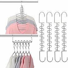 Giftol Platzsparende Kleiderbügel aus Metall, 12