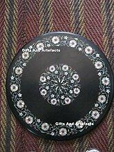 Gifts And Artefacts 59,7cm schwarz rund Marmor