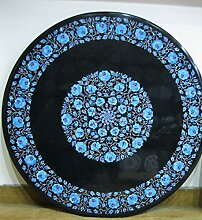 Gifts And Artefacts 91,4cm schwarz rund Marmor