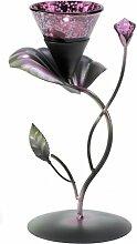 Gifts & Decor Lila Lily Pad Teelicht Kerzenhalter