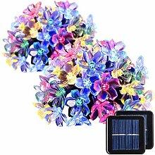 GIGALUMI 2 Stück Solar Lichterkette 7m 50 LED
