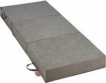 Gigapur 25069 Visco Luxus Klappmatratze in grau | Komfort Schaumstoff-Faltmatratze | Kaltschaummatratze belastbar bis 90 Kg