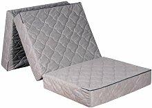 Gigapur 25465 Luxus Beinhart Klappmatratze | Faltmatratze mit sehr hoher Festigkeit | Belastbar bis 140 Kg | Abnehmbarer Bezug | 195 x 75 x 14 cm