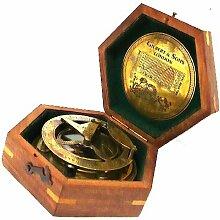 Gilbert Messing-Sonnenuhr und Kompass mit
