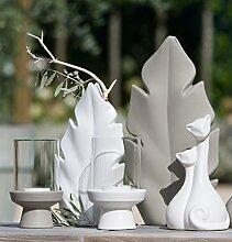 GILDE 1 x Windlicht Basetta Keramik Höhe 19 cm,