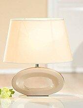 Gilde braun Keramik Lampe Loop 35cm