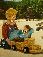 Gilde Clown Sammlerfigur - Bruder mit Baby im