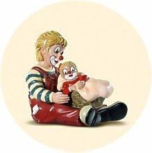 Gilde Clown Schwester 9,5 cm + Schwesterchen im