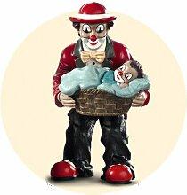 Gilde Clown Vater mit Junge im Korb SONDERPREIS !!!