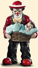 GILDE Clown Vater mit Junge im Korb