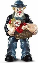 Gilde Clown Vater mit Mädchen im Korb 35040