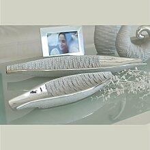 GILDE Deko-Schale Loona aus Keramik, 12x38x4,5 cm,