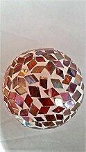 Gilde Dekokugel mit Glas mit Mosaiksteinen, ca. 12 cm Durchmesser