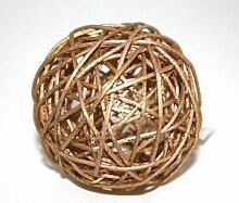 GILDE Dekokugeln Gold aus Weide Ø 6 cm 10-TLG,