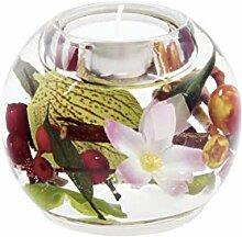 GILDE Dreamlight Teelichtglas Mercur 8x9 cm Birds