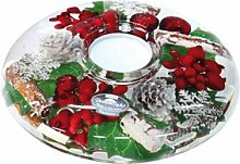 Gilde Dreamlight Teelichtglas UFO Classic Noel 15cm