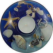 Gilde Dreamlight Ufo Medium Ocean Teelichthalter