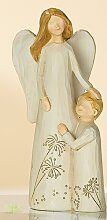GILDE Engelpaar Mutter mit Sohn rechts, creme 15 cm