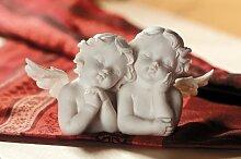 Gilde Engelpaar weiß 15 x 8 cm Polyresin
