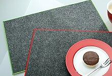 GILDE Filzuntersetzer Tischset rechteckig 45 x 30