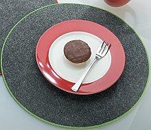 GILDE Filzuntersetzer Tischset rund Ø 35 cm mit