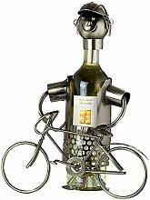 GILDE Flaschenhalter Fahrrad - vernickelte Figur