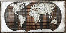 GILDE GALLERY Metallbild Bild - Kunstobjekt Erde
