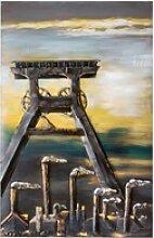 GILDE GALLERY Metallbild Kunstobjekt Glück Auf,