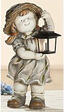 Gilde Gartenfigur Dekofigur Elisabeth mit Laterne