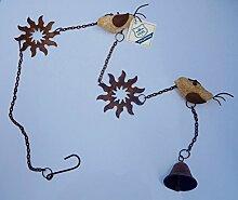 GILDE Girlande mit Vogel und Sonne, 91cm