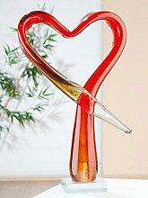 GILDE GLAS art Dekoobjekt Skulptur Herz, Höhe 34